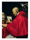 Pope Gregory the Great Giclee Print by Carlo Saraceni