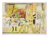 """The Workroom, Published in """"Lasst Licht Hinin,"""" (""""Let in More Light"""") 1909 Giclee Print by Carl Larsson"""