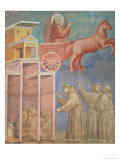 The Vision of the Chariot of Fire, 1296-7 Reproduction procédé giclée par Giotto di Bondone