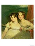 Fanny and Jane Hamond Giclée-tryk af Thomas Lawrence
