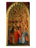 Angels from the Coronation of the Virgin Polyptych Giclee Print by Giotto di Bondone 