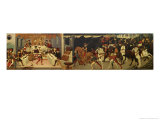 The Story of Alatiel, on Horseback and at a Banquet Giclee Print by Master Of The Jarves Chest