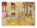 "The Bedroom, Published in ""Lasst Licht Hinin,"" 1909 Giclee Print by Carl Larsson"
