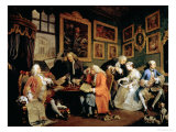 Marriage a La Mode: I, the Marriage Contract, Before 1743 Giclee Print by William Hogarth