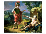 Alexander and Diogenes, 1818 Giclee Print by Nicolas Andre Monsiau