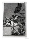 "The Sleep of Reason Produces Monsters, Plate 43 of ""Los Caprichos,"" 1799 Giclee Print by Francisco de Goya"