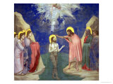 The Baptism of Christ, circa 1305 Gicl&#233;e-Druck von Giotto di Bondone 