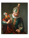 A Jester Giclee Print by Philippe Mercier