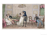 "An Introduction: Gay Moments of Logic, Jerry, Tom and Corinthian Kate, from ""Life in London"" Giclee Print by I. Robert & George Cruikshank"