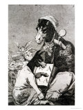 "Might Not the Pupil Know More, Plate 37 of ""Los Caprichos,"" 1799 Giclee Print by Francisco de Goya"