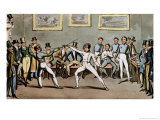 "Fencing: Jerry's Admiration of Tom in an ""Assault"" Giclee Print by I. Robert & George Cruikshank"