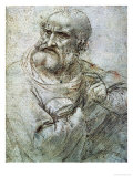 Study for an Apostle from the Last Supper Premium Giclee Print by  Leonardo da Vinci