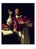 St. Carlo Borromeo, circa 1610 Lámina giclée por Orazio Borgianni