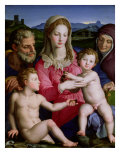 Holy Family with St. Anne and the Infant St. John the Baptist, circa 1550 Giclee Print by Agnolo Bronzino
