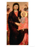 Madonna and Child Enthroned Giclee Print by  Giotto di Bondone