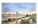 View of the Town of Frankfurt, Facing South Giclee Print by Johann Jacob Koller