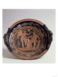Red-Figure Patera Depicting Winged Eros and Seated Female Figure, Greek Giclee Print