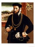 Portrait of Anton Rummel Von Liechtenan Giclée-tryk af Francesco Salviati