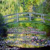 Näckrosdammen med japanska bron, 1899 Gicléetryck av Claude Monet