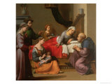 The Birth of St. John the Baptist Giclee Print by Giuliano Bugiardini