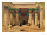 "Grand Portico of the Temple of Philae, Nubia, from ""Egypt and Nubia,"" Vol.1 Premium Giclee Print by David Roberts"