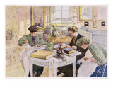 "Trousseau, Published in ""Lasst Licht Hinin,"" (""Let in More Light"") 1910 Giclee Print by Carl Larsson"
