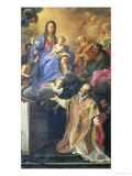 The Virgin Mary Appearing to St. Philip Neri Giclée-tryk af Carlo Maratti