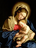 Madonna and Child Gicle-tryk af Giovanni Battista Salvi da Sassoferrato