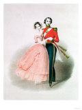 Queen Victoria and Prince Albert Dancing Giclee Print