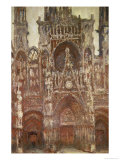 Rouen Cathedral, Evening, Harmony in Brown, 1894 Giclee Print by Claude Monet