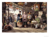"Showroom of a Lantern Merchant in Peking, from ""China in a Series of Views"" Giclee Print by Thomas Allom"