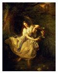 Ophelia Giclee Print by Wilhelm Carl F. Trautschold