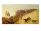 Walking Up Pheasants on the 1st of October (See also 63636) Giclee Print by Richard Ansdell