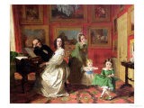 The Rev. and Mrs. Palmer-Lovell with Their Daughters Georgina and Christina Giclee Print by Augustus Leopold Egg