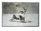 The Agility and Audacity of Juanito Apinani in the Ring at Madrid Giclee Print by Francisco de Goya