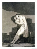 "Love and Death, Plate 10 of ""Los Caprichos,"" Published 1799 Giclee Print by Francisco de Goya"