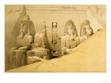 Front Elevation of the Great Temple of Aboo Simbel, Nubia Giclee Print by David Roberts