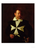 Portrait of a Knight of Malta, Possibly Fra Antonio Martelli, 1607-08 Giclee Print by  Caravaggio