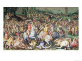 The Defeat of the Pisans at the Tower of San Vincenzo, from the Salone Dei Cinquecento, 1569 Giclee Print by Giorgio Vasari