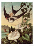 """Illustration to """"Thumbkinetta,"""" by Hans Christian Andersen circa 1872 Giclee Print by Eleanor Vere Boyle"""