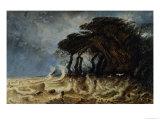 Spring Tide Near Honfleur, circa 1861 Giclee Print by Paul Huet