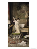 The Duet Giclee Print by Karl The Elder Schweninger