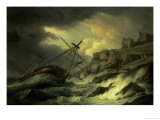 "A Shipwreck, Said to be ""The Dutton"" Giclee Print by Thomas Luny"