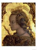 St. Catherine of Alexandria, Detail from the San Martino Polyptych Giclee Print by Carlo Crivelli