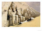 "The Great Temple of Abu Simbel, Nubia, from ""Egypt and Nubia,"" Vol.1 Premium Giclee Print by David Roberts"