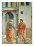 Tribute Money, circa 1427 Giclee Print by Tommaso Masaccio