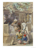 Turkish Figures at a Sweetmeat Stall, 1851 Giclee Print by Amadeo Preziosi