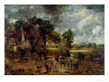 "Full Scale Study for ""The Hay Wain,"" circa 1821 Premium Giclee Print by John Constable"