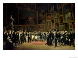 Charles X Presenting Awards to the Artists at the End of the Exhibition of 1824 Giclee Print by Francois Joseph Heim