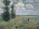 The Poppy Field Impressão giclée premium por Claude Monet